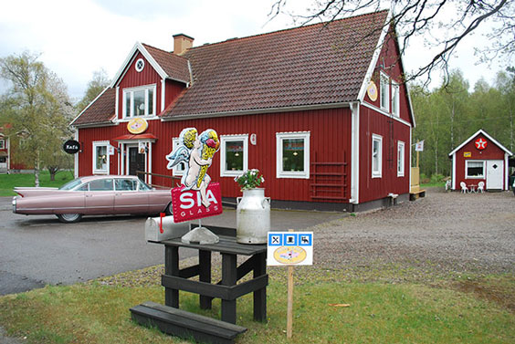 Cafe i 50 tals stil Bed and Breakfast Mysigt 50 tals cafe i Småland medövernattning
